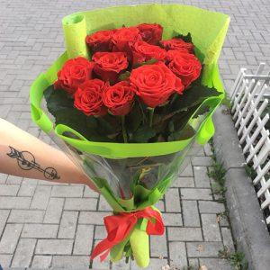букет 11 красных роз Кропивницкий