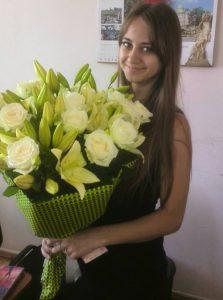 букет белых лилий с розами фото