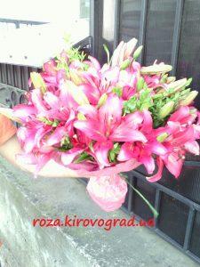 букет розовых лилий фото