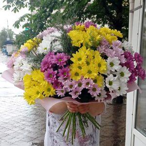 букет хризантем в Кропивницком фото
