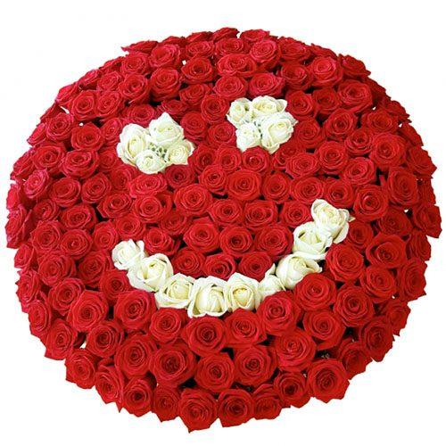 "Фото товара 201 роза ""Смайлик"""