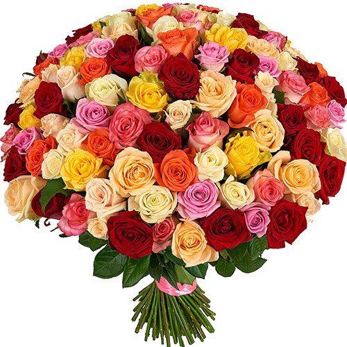 Фото товара 101 роза микс