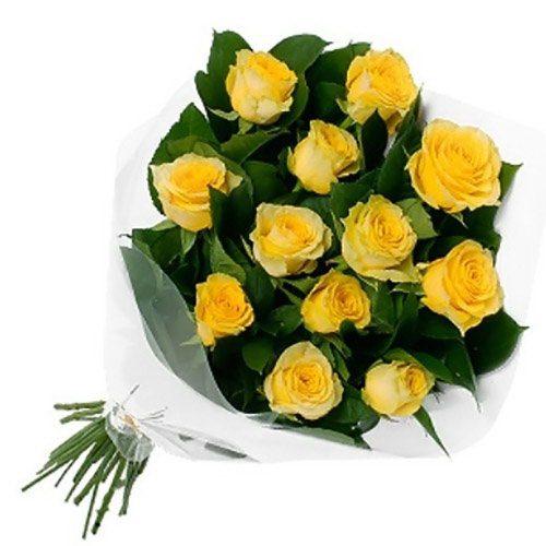 Фото товара 11 желтых роз