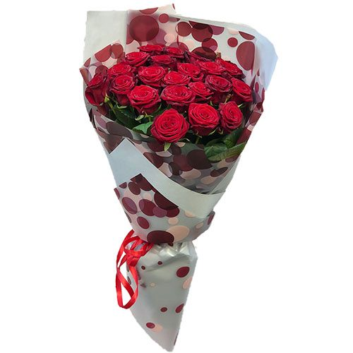 Фото товара 21 красная роза