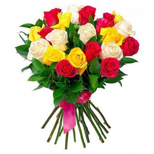 Фото товара 21 роза микс