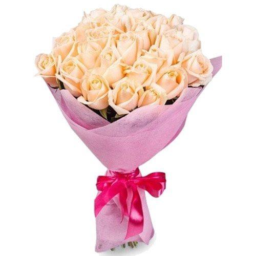 Фото товара 25 кремовых роз