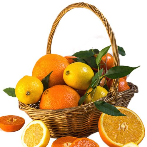 фото Корзина витаминов цитрусы