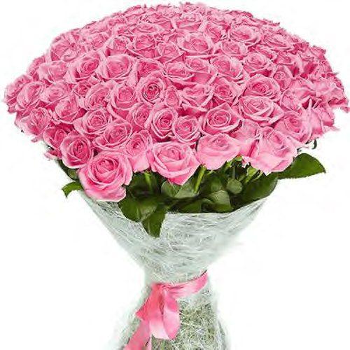 """Фото товара 101 роза """"Аква"""""""