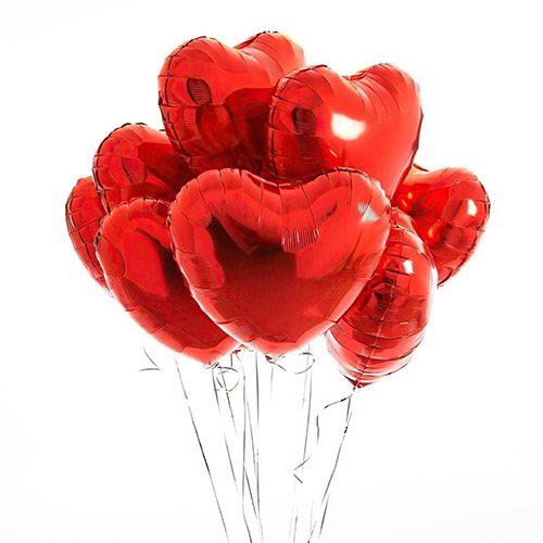 Фото товара Воздушные шарики латексные в форме сердца поштучно