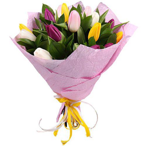 Фото товара 15 тюльпанов микс