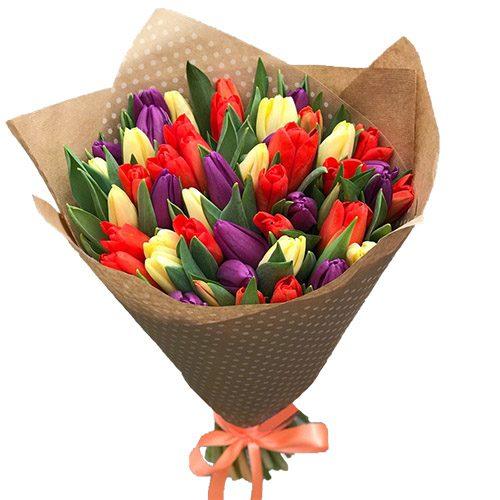 Фото товара 25 тюльпанов микс