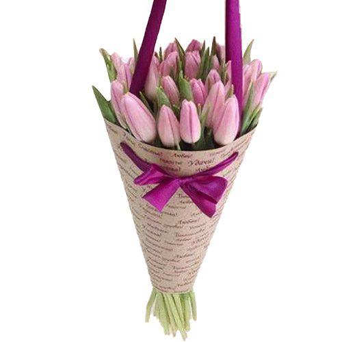Фото товара 25 нежно-розовых тюльпанов