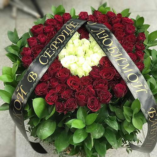 "Фото товара Корзина ""Сердце"" 100 роз"