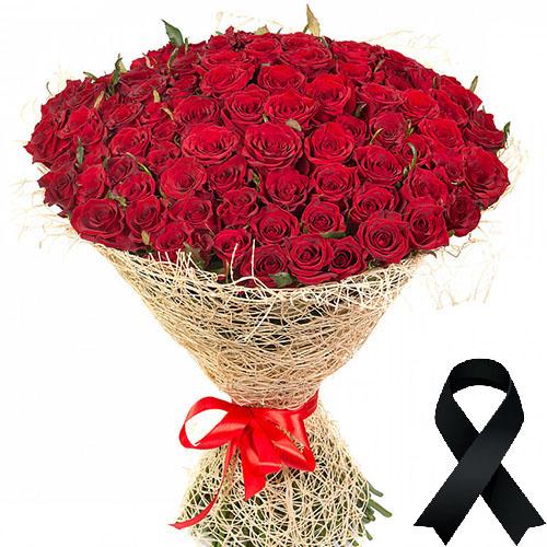 Фото товара 100 красных роз